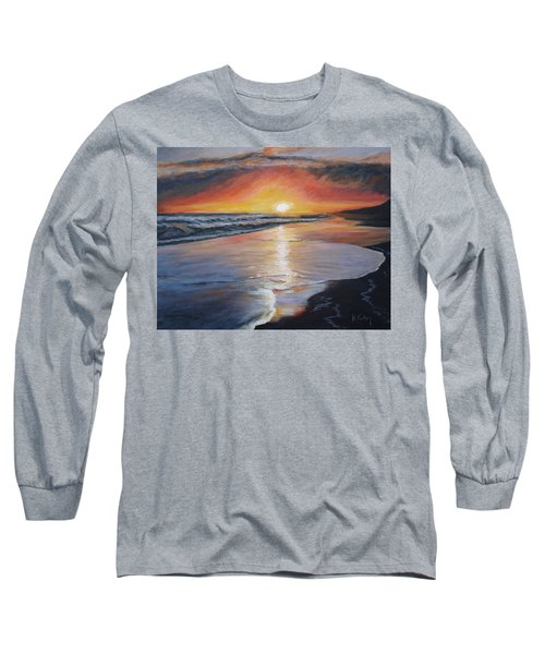 Long Sleeve T-Shirt featuring the painting Stephanie's Sunset by Donna Tuten