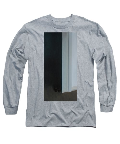 Long Sleeve T-Shirt featuring the painting Stepping Into The Light? by Tone Aanderaa