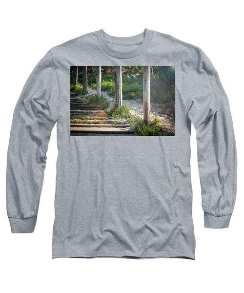 Steps Off The Beach Long Sleeve T-Shirt