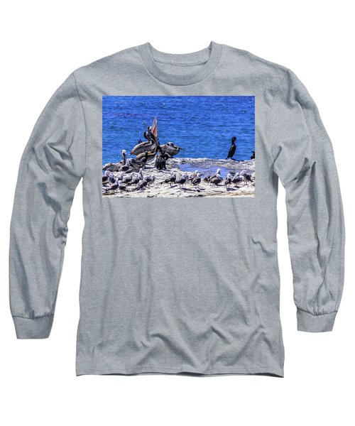 Pelican Sticking His Neck Out Long Sleeve T-Shirt