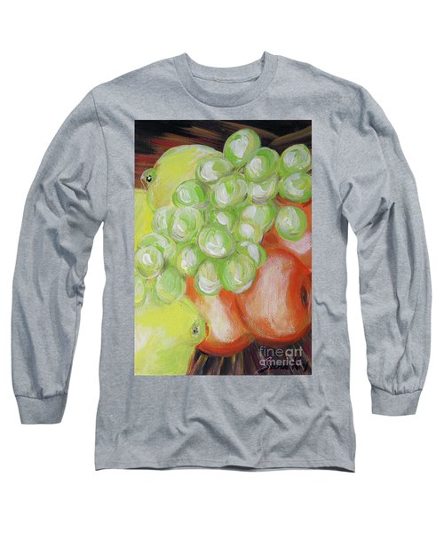 Still Life. Grapes. Fruits.  Long Sleeve T-Shirt