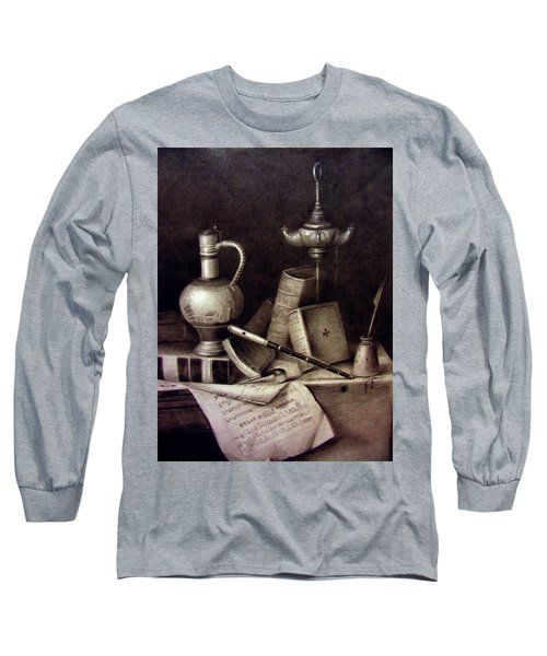 Still Life In Pencil Long Sleeve T-Shirt