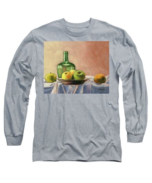 Long Sleeve T-Shirt featuring the painting Still Life With Bottle by Janet King