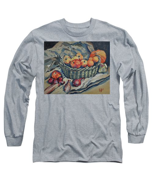 Still Life With Fruit And Vegetables Long Sleeve T-Shirt