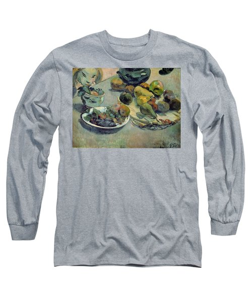 Still Life With Fruit Long Sleeve T-Shirt by Paul Gauguin