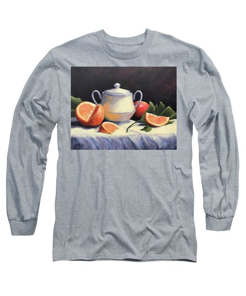 Still Life With Oranges Long Sleeve T-Shirt