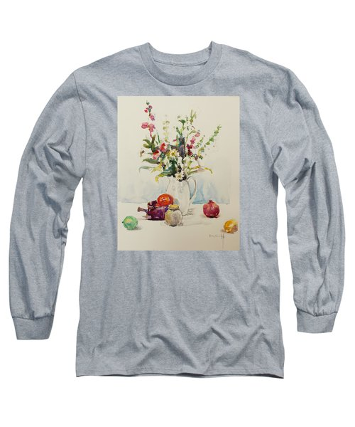 Still Life With Pomegranate Long Sleeve T-Shirt