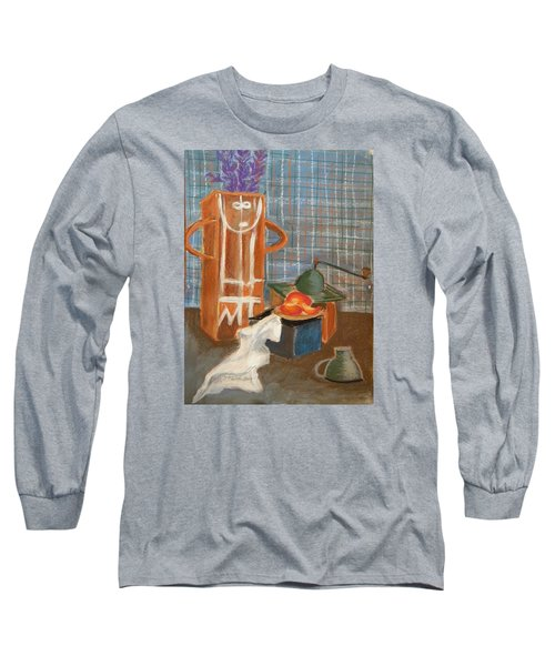 Still Life With Romanian Ceramic Long Sleeve T-Shirt by Manuela Constantin