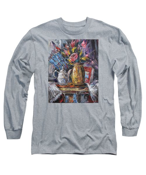 Still Life With Teapot And Fan Long Sleeve T-Shirt