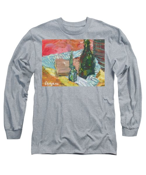 Still Life With Three Bottles Long Sleeve T-Shirt