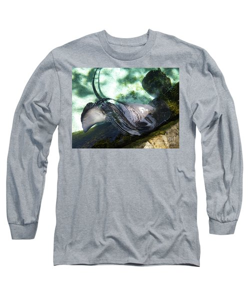 Long Sleeve T-Shirt featuring the photograph Stingray Wave by Francesca Mackenney