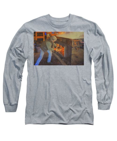 Stoking The Sugarhouse Long Sleeve T-Shirt by Tom Singleton