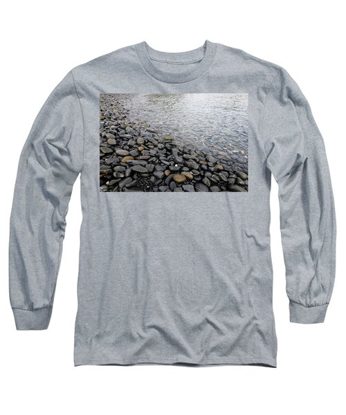 Long Sleeve T-Shirt featuring the photograph Menorca Pebble Beach  by Pedro Cardona
