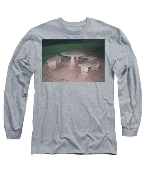 Stone Picnic Table And Benches Long Sleeve T-Shirt
