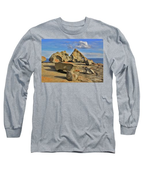 Long Sleeve T-Shirt featuring the photograph Stone Sculpture by Stephen Mitchell