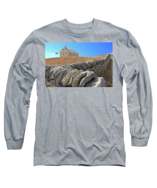 Stone Wall Education Long Sleeve T-Shirt by Christopher McKenzie
