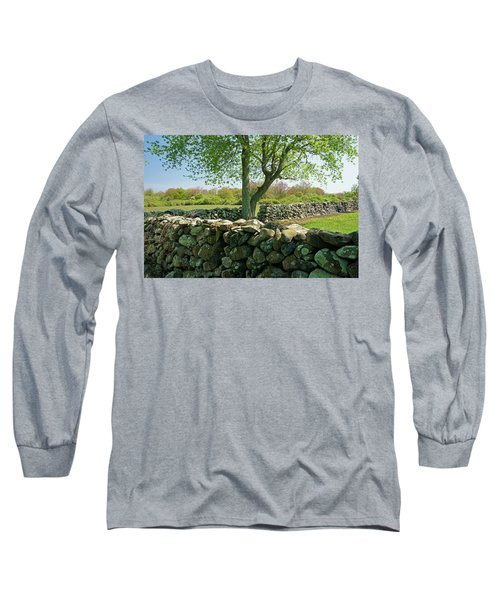Stone Wall In Rhode Island Long Sleeve T-Shirt