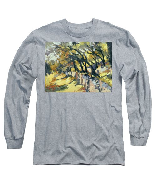 Stone Wall Olive Grove Terrace Long Sleeve T-Shirt