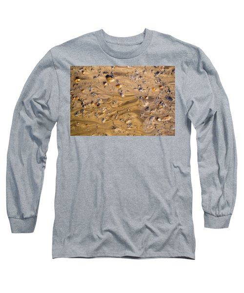 Long Sleeve T-Shirt featuring the photograph Stones In A Mud Water Wash by John Williams