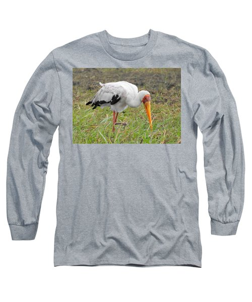 Long Sleeve T-Shirt featuring the photograph Stork by Betty-Anne McDonald