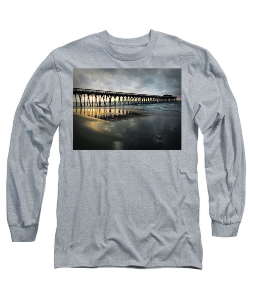 Storm At Sunrise In Color Long Sleeve T-Shirt by Kelly Hazel
