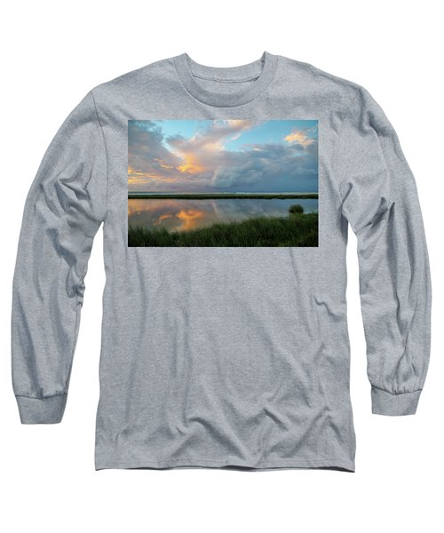 Storm Cloud Reflections At Sunset Long Sleeve T-Shirt