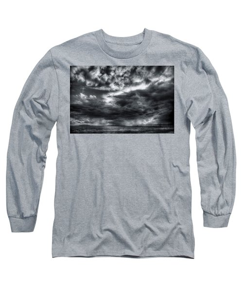 Storm Clouds Ventura Ca Pier Long Sleeve T-Shirt
