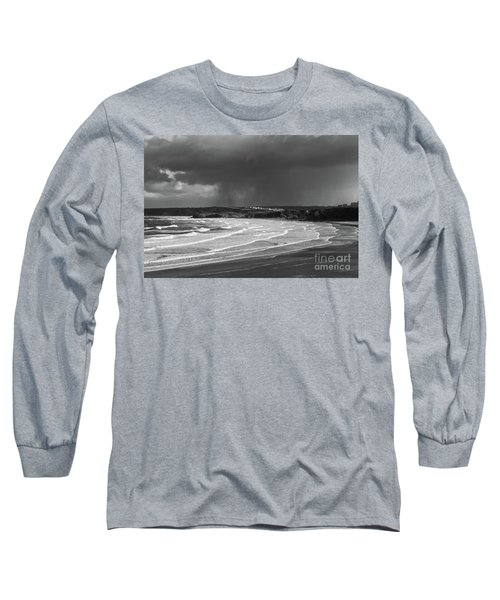 Long Sleeve T-Shirt featuring the photograph Storm  Over The Bay by Nicholas Burningham