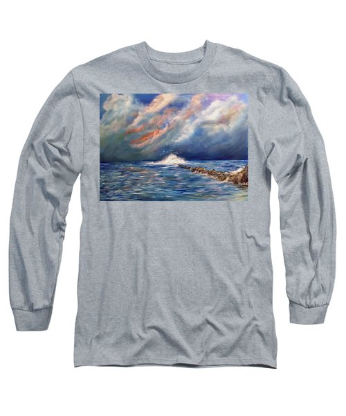 Storm Over The Ocean Long Sleeve T-Shirt by Dorothy Maier