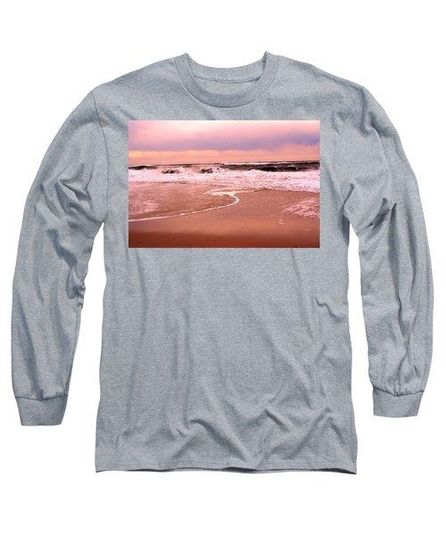 Storm Waves Hitting The Shore Long Sleeve T-Shirt