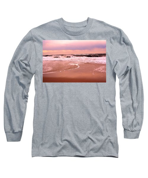 Storm Waves Hitting The Shore Long Sleeve T-Shirt