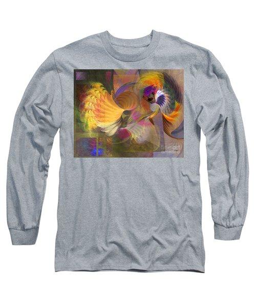 Storms On Sheridan Long Sleeve T-Shirt by John Robert Beck