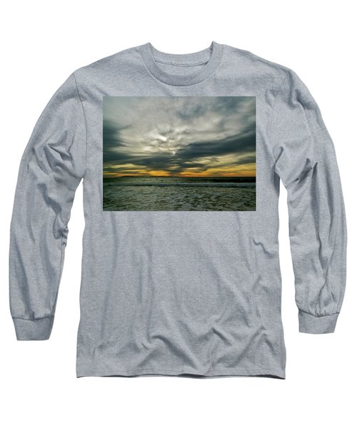 Stormy Beach Clouds Long Sleeve T-Shirt
