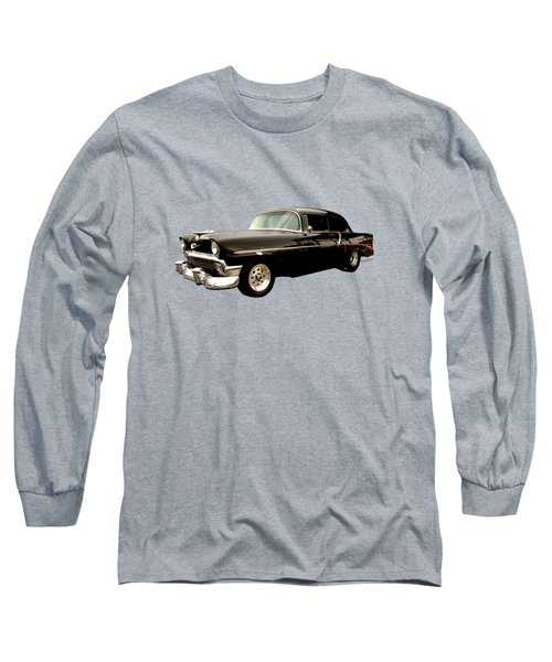 Stormy Chevy At Roys On Route 66 Long Sleeve T-Shirt