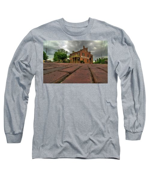 Stormy Morning On Main Street Long Sleeve T-Shirt