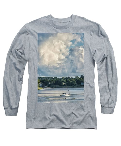 Stormy Sunday Morning On The Navesink River Long Sleeve T-Shirt by Gary Slawsky
