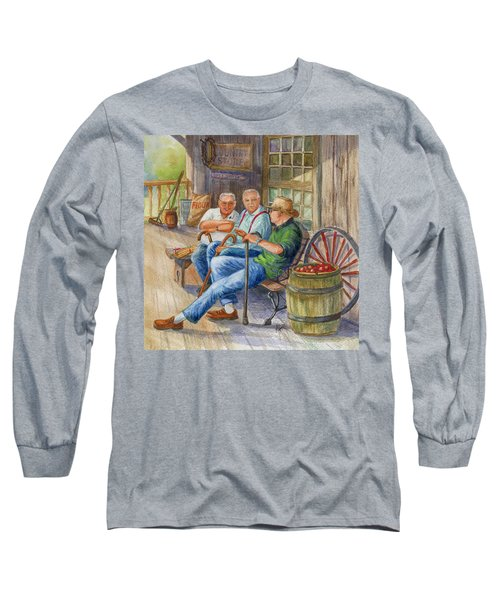 Long Sleeve T-Shirt featuring the painting Storyteller Friends by Marilyn Smith