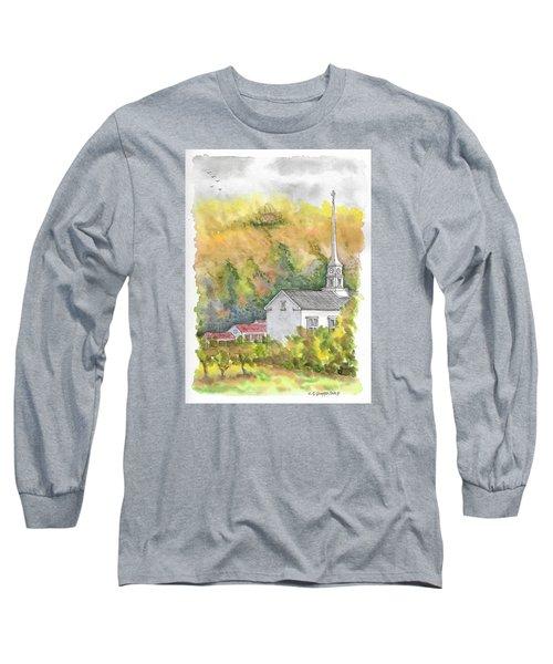 Stowe Community Church, 1839, Stowe, Vermont Long Sleeve T-Shirt