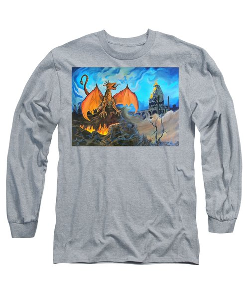 Straight To The Casttttle Long Sleeve T-Shirt by Kevin F Heuman