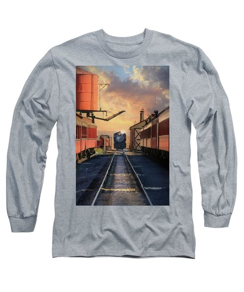 Long Sleeve T-Shirt featuring the photograph Strasburg Railroad Station by Lori Deiter