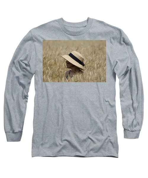 Straw Hat Long Sleeve T-Shirt