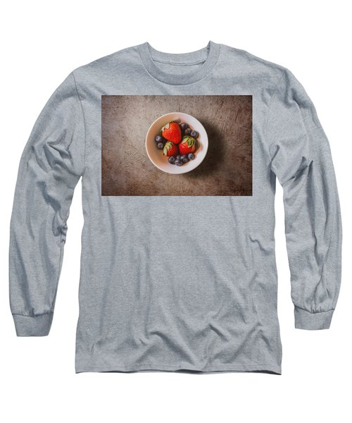 Strawberries And Blueberries Long Sleeve T-Shirt