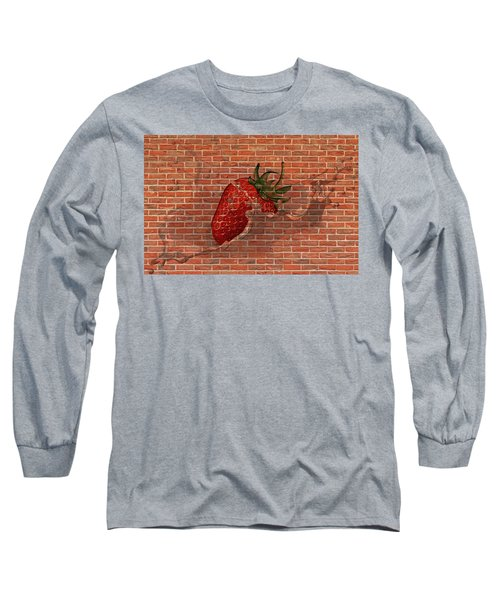 Strawberries And Cream Amazing Graffiti Long Sleeve T-Shirt