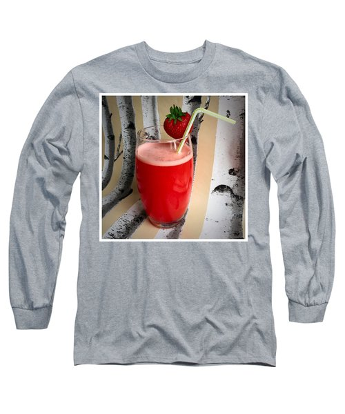Strawberry Juice Long Sleeve T-Shirt by Kate V