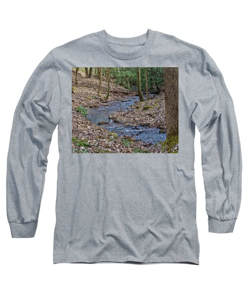 Long Sleeve T-Shirt featuring the photograph Stream Up The Hollow by Denise Romano