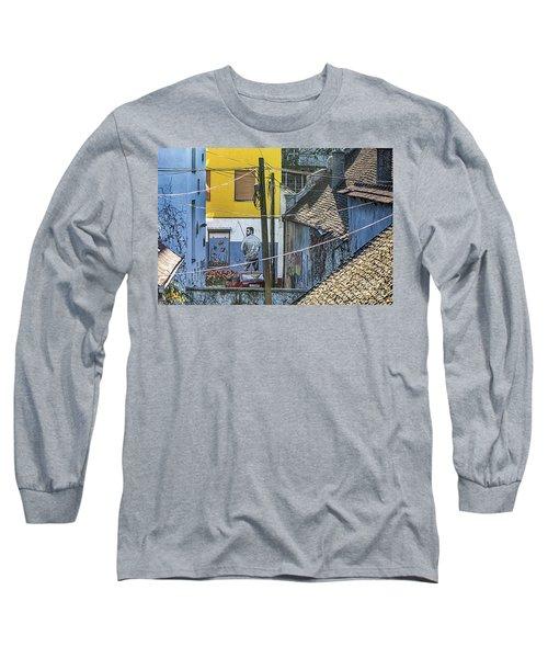 Street Art In Novi Sad - Angler Long Sleeve T-Shirt