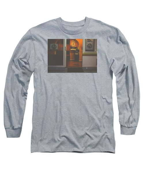 Street Coffee Long Sleeve T-Shirt by Cesare Bargiggia