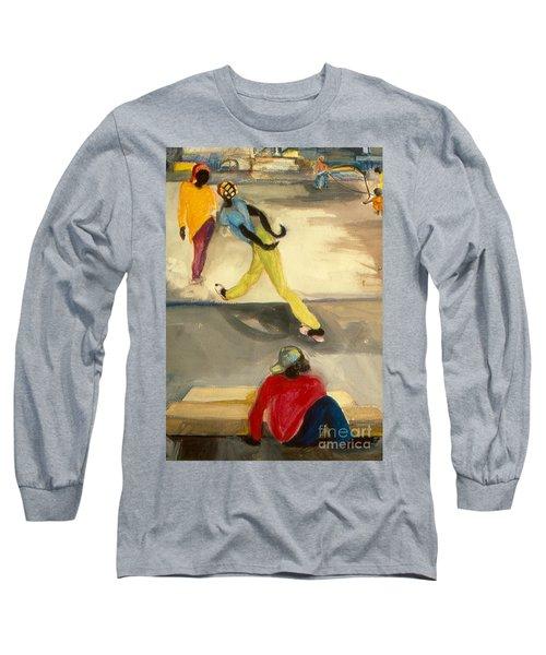 Street Scene Long Sleeve T-Shirt by Daun Soden-Greene