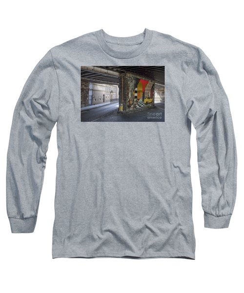 Street Scene - Edinburgh Long Sleeve T-Shirt by Amy Fearn