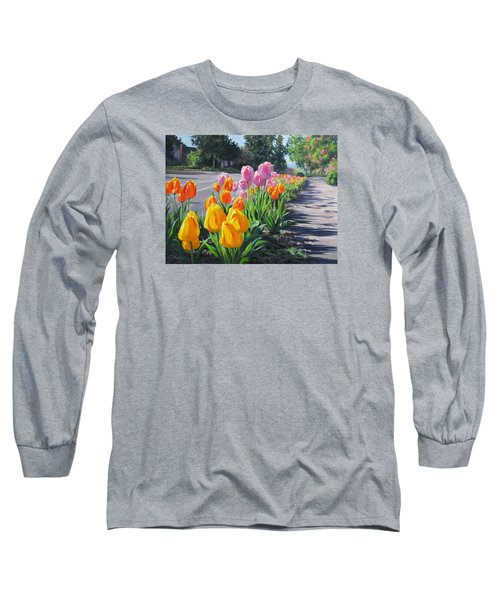 Street Tulips Long Sleeve T-Shirt by Karen Ilari